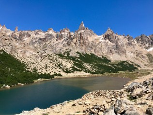Laguna Towers from Refugio Frey